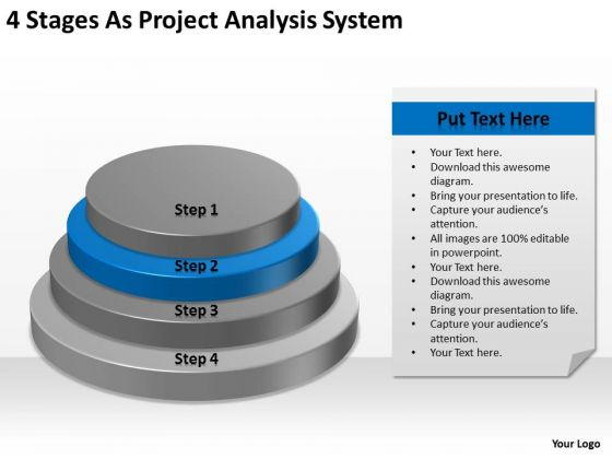 4 Stages As Project Analysis System Ppt Business Plan Forms PowerPoint Templates