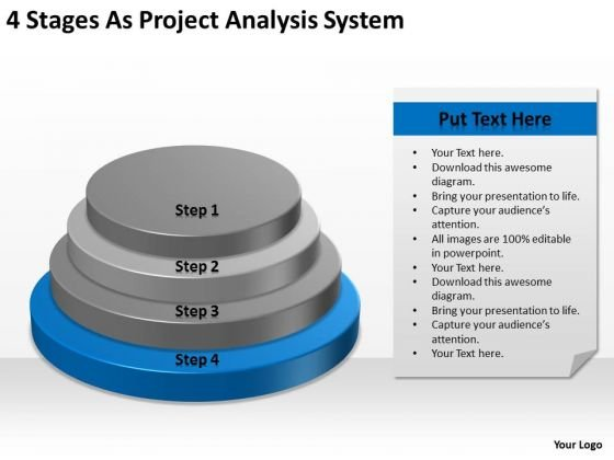 4 Stages As Project Analysis System Ppt Create Business Plan Free PowerPoint Templates