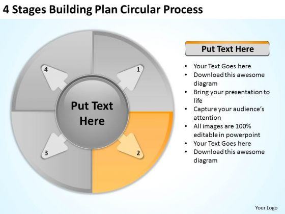 Soft powerpoint templates slides and graphics 4 stages buliding plan circular process business development powerpoint templates accmission Gallery