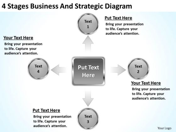 4 Stages Business And Strategic Diagram Plan Experts PowerPoint Slides