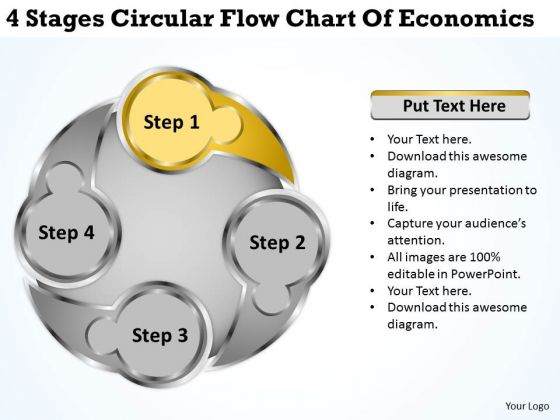 Economics powerpoint templates slides and graphics 4 stages circular flow chart of economics business planning guide powerpoint templates toneelgroepblik Image collections