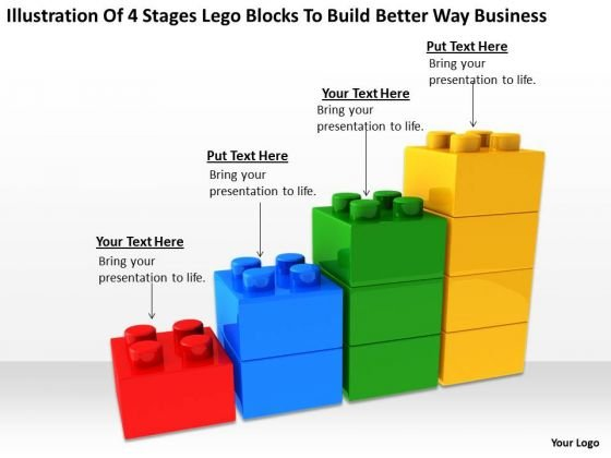 4 Stages Lego Blocks To Build Better Way Business Sports Bar Plan PowerPoint Slides
