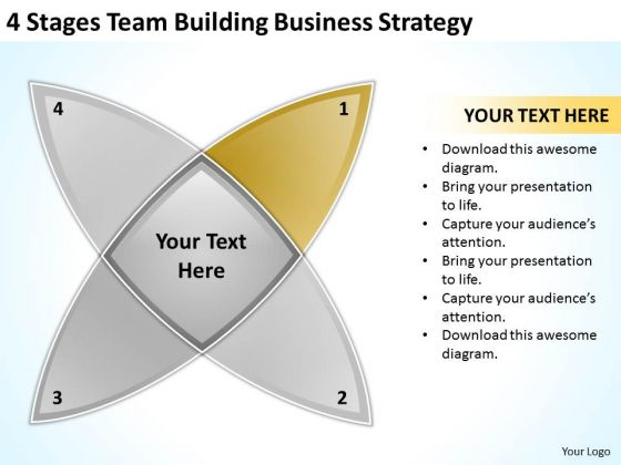 4 Stages Team Building Business And Strategy Ppt Plan PowerPoint Templates