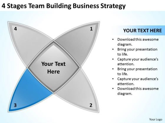 4 Stages Team Building Business Planning Strategy Ppt PowerPoint Templates