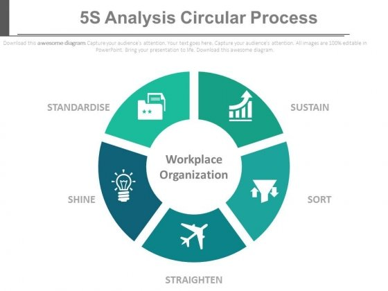 5S Analysis Circular Process Ppt Slides