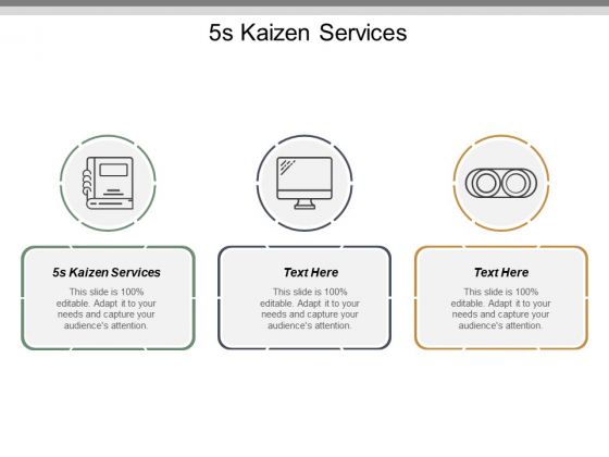 5S Kaizen Services Ppt PowerPoint Presentation File Example Topics Cpb