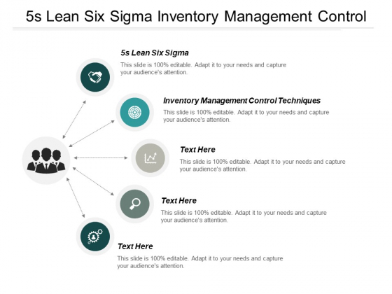 5S Lean Six Sigma Inventory Management Control Techniques Ppt PowerPoint Presentation Styles Vector