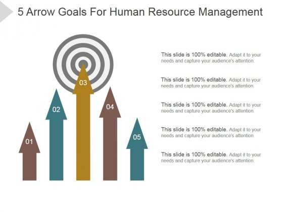 5 Arrow Goals For Human Resource Management Ppt PowerPoint Presentation Picture