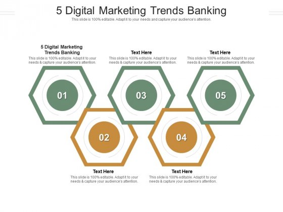 5 Digital Marketing Trends Banking Ppt PowerPoint Presentation Icon Deck Cpb Pdf