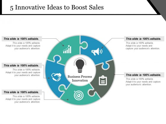 5 Innovative Ideas To Boost Sales Ppt PowerPoint Presentation Background Images