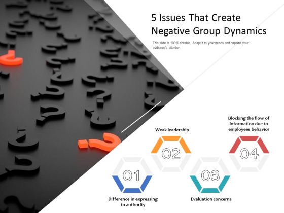 5_Issues_That_Create_Negative_Group_Dynamics_Ppt_PowerPoint_Presentation_Professional_Shapes_PDF_Slide_1