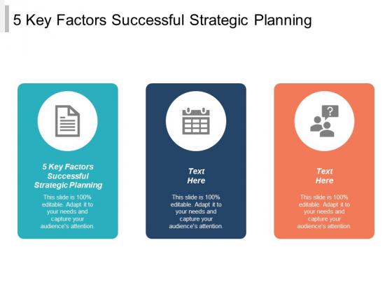 5 Key Factors Successful Strategic Planning Ppt PowerPoint Presentation Slides Ideas Cpb
