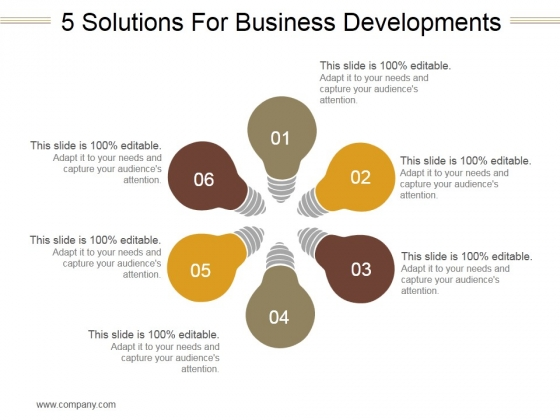 5 Solutions For Business Developments Ppt PowerPoint Presentation Samples