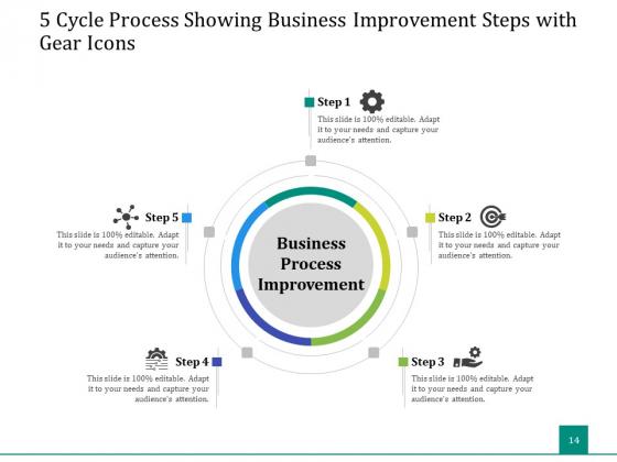5_Stage_Circular_Process_Management_Gear_Ppt_PowerPoint_Presentation_Complete_Deck_Slide_14
