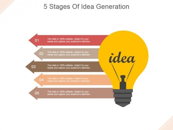 5 Stages Of Idea Generation Ppt PowerPoint Presentation Rules