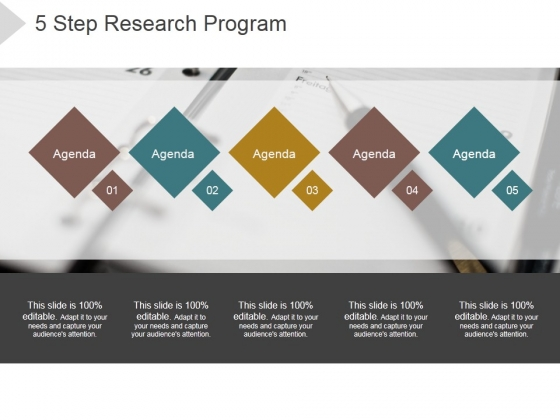 5 Step Research Program Ppt PowerPoint Presentation Layouts