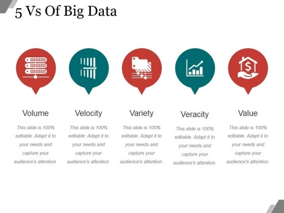 5 Vs Of Big Data Ppt PowerPoint Presentation Microsoft
