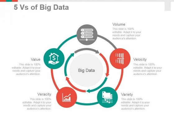 5 Vs Of Big Data Ppt PowerPoint Presentation Summary Visuals