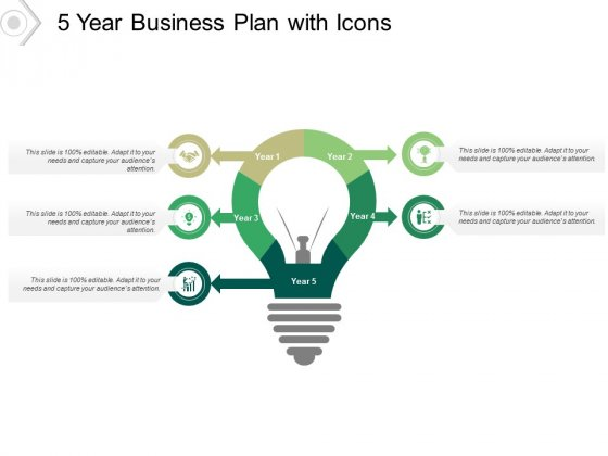 5 Year Business Plan With Icons Ppt PowerPoint Presentation Infographic Template Influencers