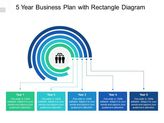 5 Year Business Plan With Rectangle Diagram Ppt PowerPoint Presentation Professional Outline