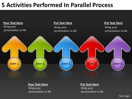 5 Activities Performed In Parallel Process Tanning Salon Business Plan PowerPoint Templates