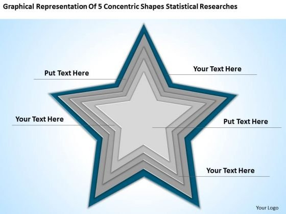 5 Concentric Shapes Statistical Researches Ppt Creating Small Business Plan PowerPoint Slides