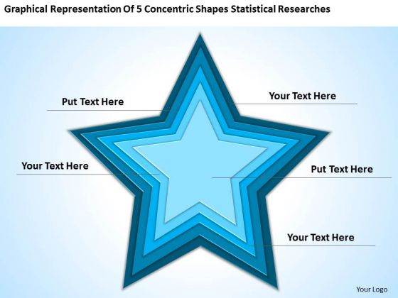 5 Concentric Shapes Statistical Researches Ppt How Business Plan PowerPoint Slides