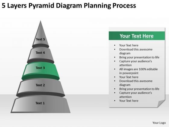 5 Layers Pyramid Diagram Planning Process Ppt Businessplans PowerPoint Templates