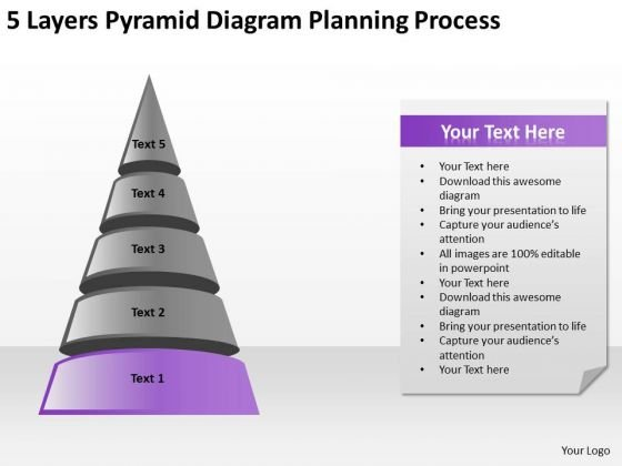 5 Layers Pyramid Diagram Planning Process Ppt Templates For Business PowerPoint Slides