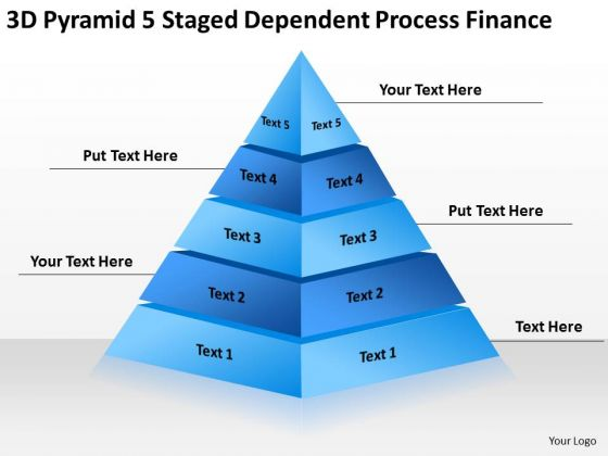 5 Staged Dependent Process Finance Ppt Business Plan Company Description PowerPoint Templates
