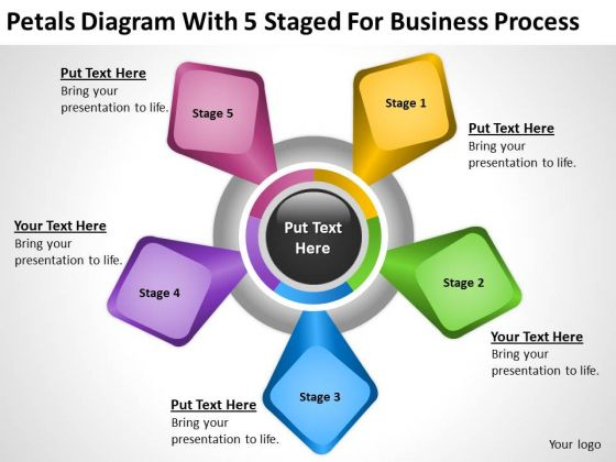 5 Staged For Business Process Ppt Sample Plan PowerPoint Templates