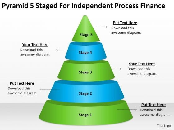 5 Staged For Independent Process Finance Ppt Business Plan PowerPoint Templates