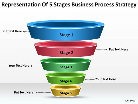 5 stages business strategy process ppt plan outline powerpoint, Modern powerpoint