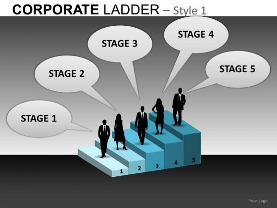 5 Stages Career Growth PowerPoint Slides Editable