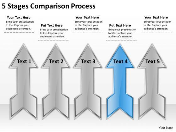 5 Stages Comparison Process Business Plan Maker PowerPoint Slides
