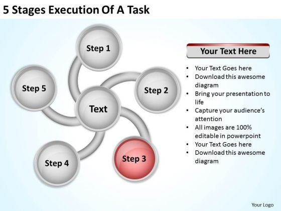 5 Stages Execution Of Business Contingency Plan PowerPoint Slides
