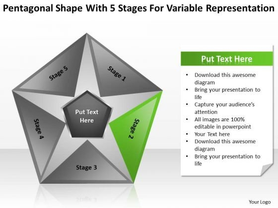 5 Stages For Variable Representation Ppt Business Plan Software Comparison PowerPoint Templates