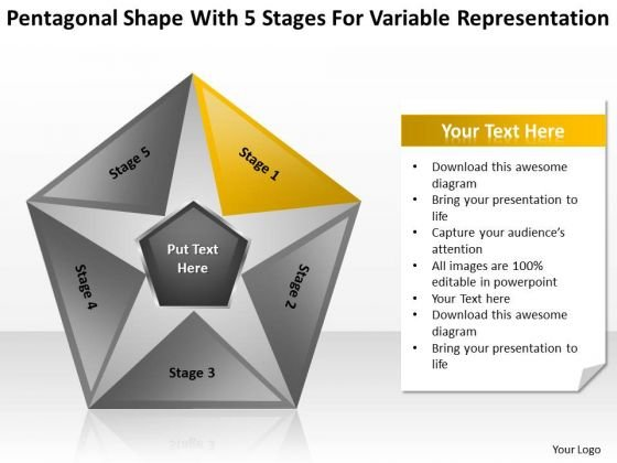 5 Stages For Variable Representation Sample Business Continuity Plan PowerPoint Templates