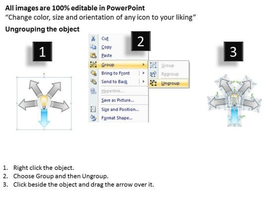 5_stages_hub_and_spoke_comparison_diagram_business_plan_for_bar_powerpoint_templates_2
