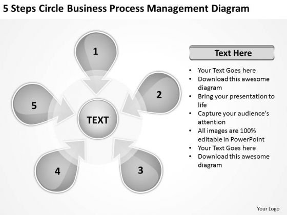 5 Stages Hub And Spoke Comparison Diagram Business Plan Outline PowerPoint Slides