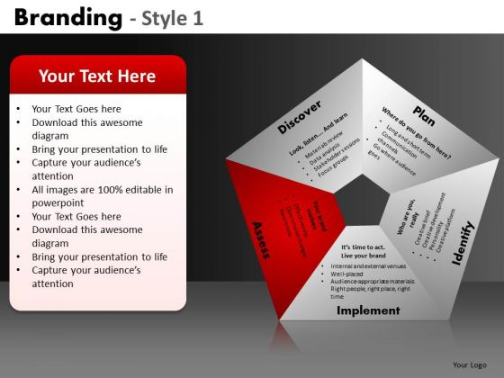 5 Stages Of Branding PowerPoint Slides Ppt Templates