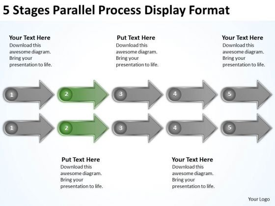 5 Stages Parallel Process Display Format Laundromat Business Plan PowerPoint Templates