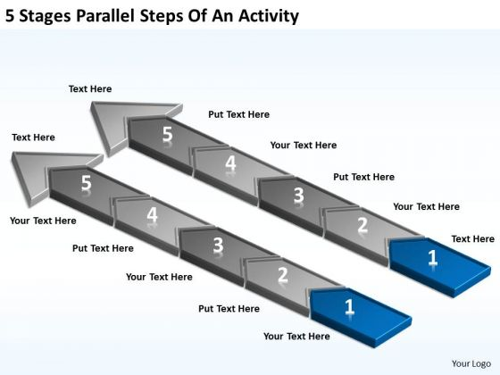5 Stages Parallel Steps Of An Activity Business Plan PowerPoint Templates