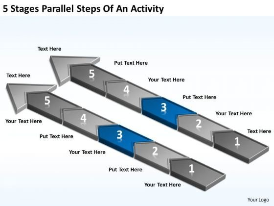 5 Stages Parallel Steps Of An Activity Business Plan Template Download PowerPoint Templates