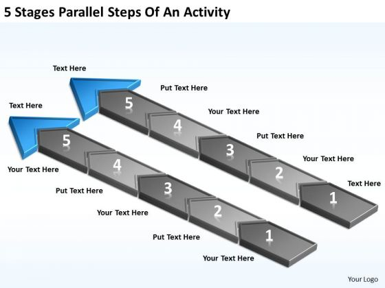 5 Stages Parallel Steps Of An Activity Business Plans For Sale PowerPoint Templates