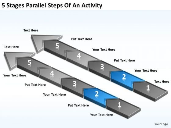 5 Stages Parallel Steps Of An Activity Personal Business Plan PowerPoint Slides