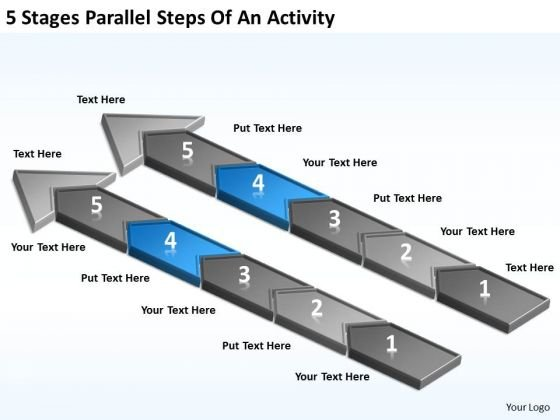 5 Stages Parallel Steps Of An Activity Tutoring Business Plan PowerPoint Templates