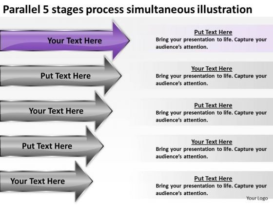 5 stages process simultaneous illustration ppt sample business 5 stages process simultaneous illustration ppt sample business proposal powerpoint slides powerpoint templates flashek Images