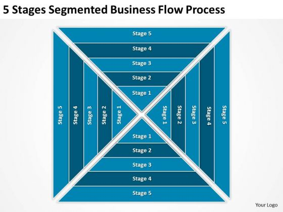 5 Stages Segmented Business Flow Process Ppt Best Plan Templates PowerPoint