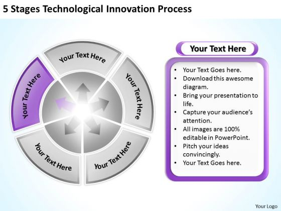 5 Stages Technological Innovation Process Ppt Business Plan PowerPoint Templates